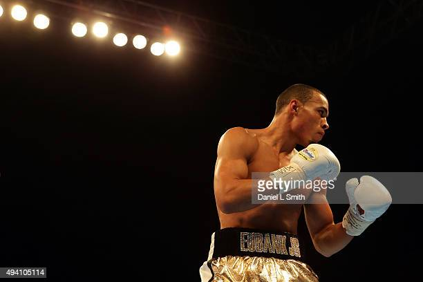 Christopher Eubank Jr of Brighton during the WBA World Interim Middleweight Championship at Motorpoint Arena on October 24 2015 in Sheffield England