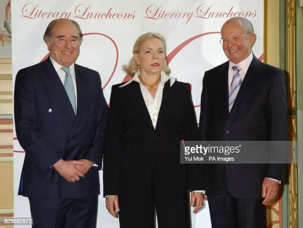 Christopher Foyle with Hollwood legend Lauren Bacall and bestselling author Wilbur Smith