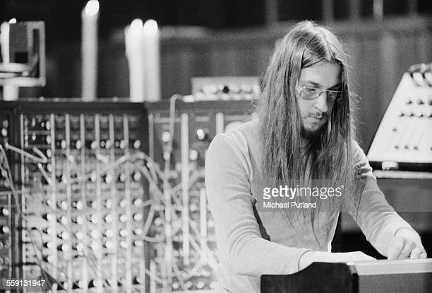 Christopher Franke performing with German electronic music group Tangerine Dream at Coventry Cathedral Warwickshire 4th October 1975