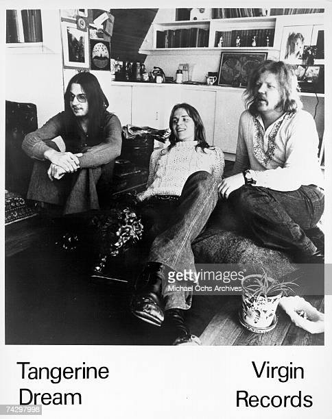 Christopher Franke Peter Baumann and Edgar Froese of the rock band 'Tangerine Dream' pose for a portrait in circa 1973