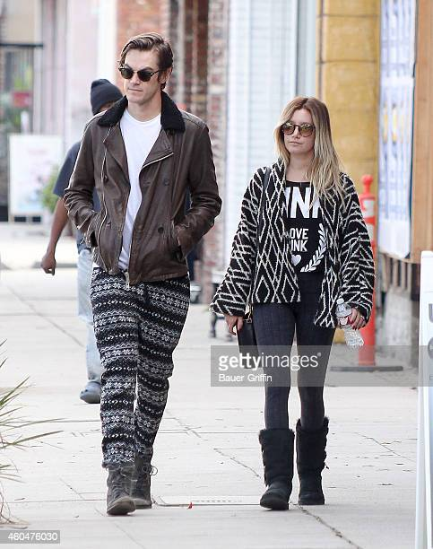 Christopher French and Ashley Tisdale are seen on December 14 2014 in Los Angeles California
