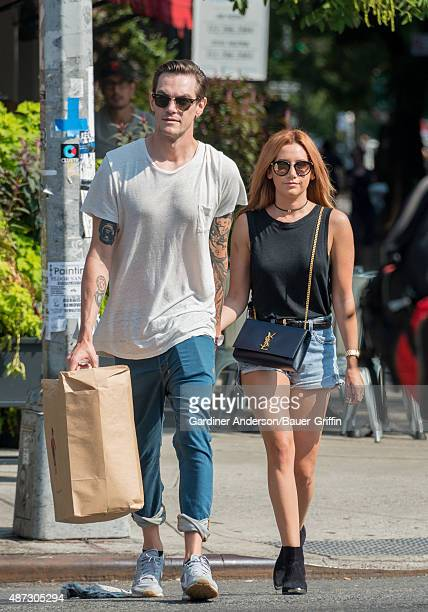 Christopher French and Ashley Tisdale are seen on September 08 2015 in New York City