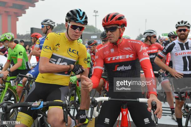Christopher FROOME and Alberto CONTADOR at the start to the 1st TDF Shanghai Criterium 2017 On Sunday 29 October 2017 in Shanghai China