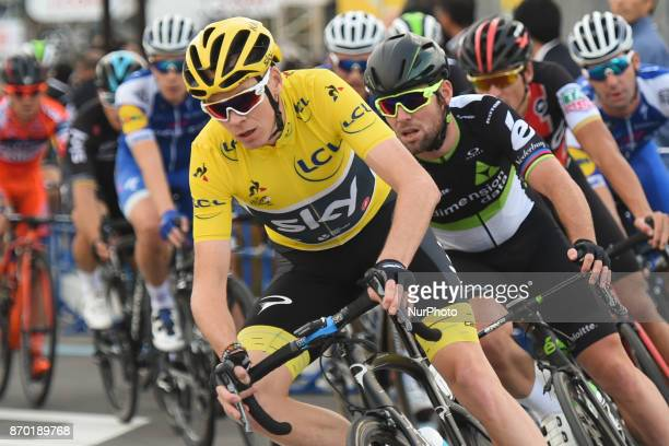 Christopher FROOME and Mark CAVENDISH in action during 589km Main Race of the 5th edition of TDF Saitama Criterium 2017 On Saturday 4 November 2017...