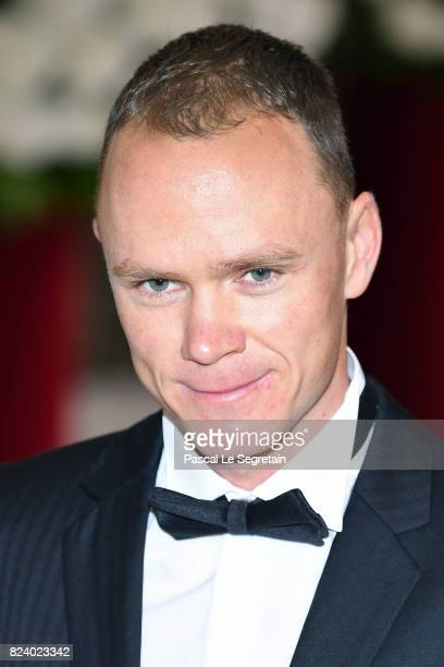 Christopher Froome attends the 69th Monaco Red Cross Ball Gala at Sporting MonteCarlo on July 28 2017 in MonteCarlo Monaco