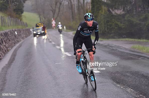 Christopher Froome of Great Britain and Tejay van Garderen of USA in the attack during stage 4 of the Tour de Romandie on April 30 2016 in...