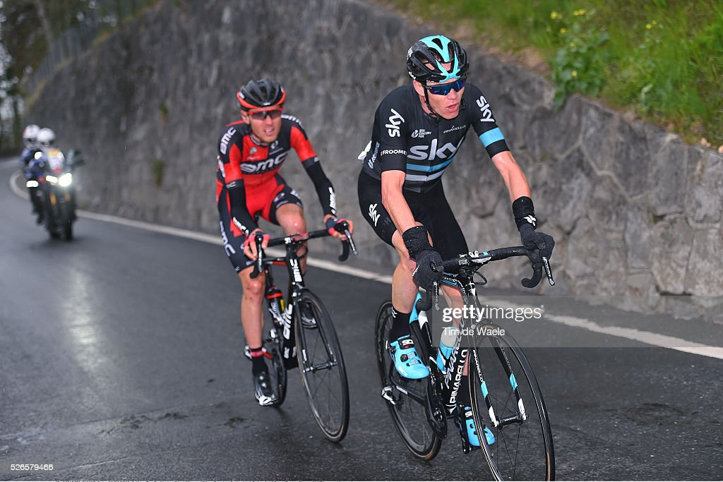 Christopher Froome of Great Britain and Tejay van Garderen of USA in the attack during stage 4 of the Tour de Romandie on April 30, 2016 in Villars-sur-Ollon, Switzerland.