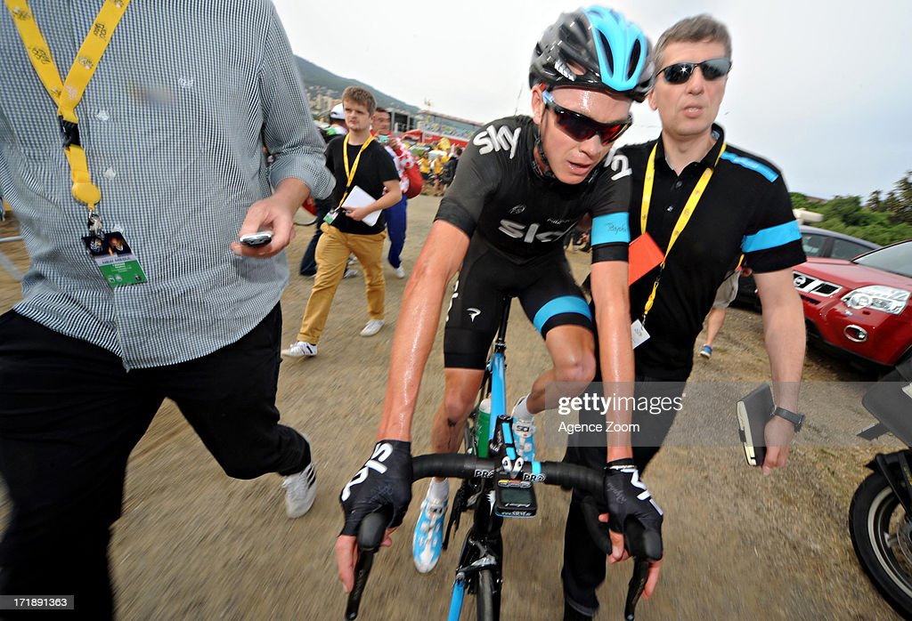 Christopher Froome of Team Sky Procycling during Stage 1 of the Tour de France from Porto-Vecchio to Bastia on June 29, 2013 in Bastia, France..