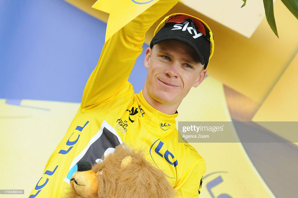 Christopher Froome of Team Sky Procycling during Stage 14 of the Tour de France on July 13, 2013 Saint-Pourcain-sur-Sioule to Lyon, France.