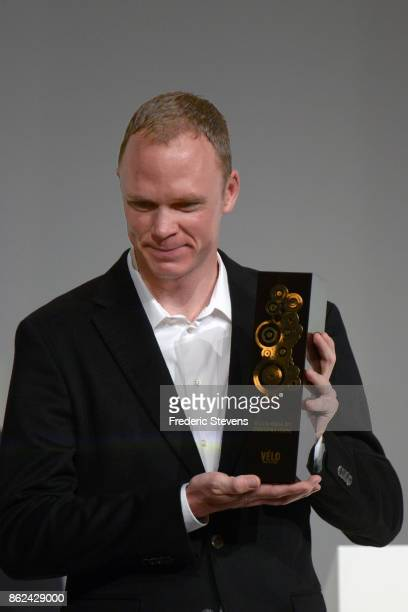 Christopher Froome was nominated Vlo d'Or 2017 by a jury of international journalists during Le Tour de France 2018 Route Announcement at the Palais...