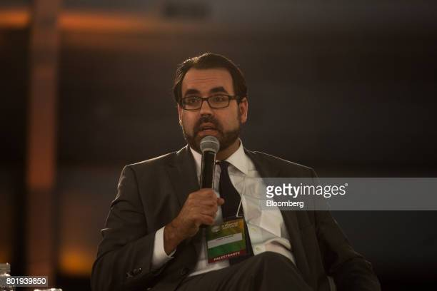 Christopher Garman head of country analysis for the Eurasia Group Ltd speaks during the UNICA Ethanol Summit 2017 in Sao Paulo Brazil on Monday June...