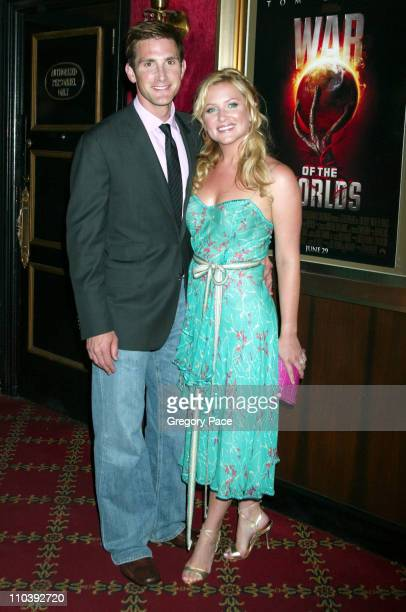 Christopher Gavigan and Jessica Capshaw during 'War of the Worlds' New York City Premiere Inside Arrivals at Ziegfeld Theater in New York City New...