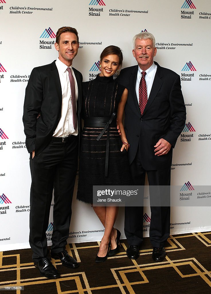 Christopher Gavigan, Jessica Alba and Dr. Philip J. Landrigan attend the Champion For Children Award Ceremony Honoring Jessica Alba at Hyatt Regency Greenwich on May 20, 2013 in Greenwich, Connecticut.