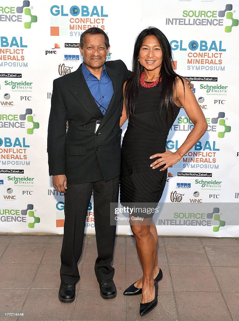 Christopher Gopal, Tata Consultancy Services (L) and Lina Ramos, Chief Business Officer Source Intelligence attend the Global Conflict Minerals Symposium Dinner Presented by Source Intelligence at Omni Los Angeles Hotel on August 21, 2013 in Los Angeles, California.