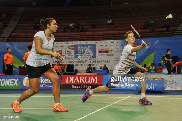 Christopher Grimley and Ciara Torrance of Scotland compete against Pui Pang Fong and Xue Xin Gong of Macau during Mixed Double qualification round of...