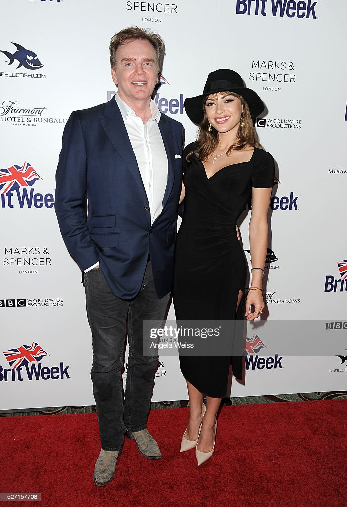 Christopher Guy (L) and actress Angela Vitale attend BritWeek's 10th Anniversary VIP Reception & Gala at Fairmont Hotel on May 1, 2016 in Los Angeles, California.