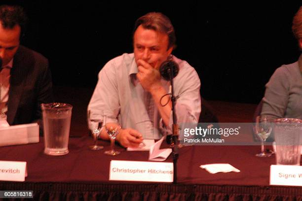 Christopher Hitchens attends INTELLIGENCE SQUARED presents 'Freedom of Expression Must Include the License to Offend' Debate at Asia Society on...