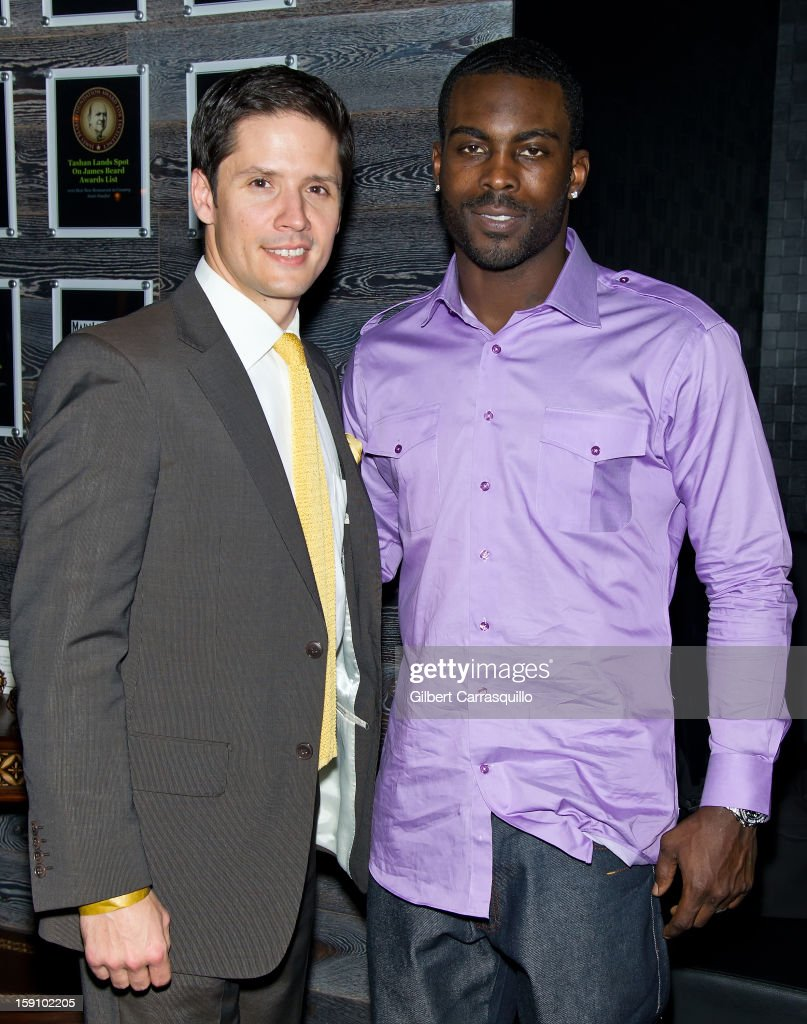 Christopher J. Cabott, Esq. entertainment, sports and media attorney and National Football League player agent and Philadelphia Eagles QB Michael Vick attend An Evening With 7, at 7, On the 7th at on January 7, 2013 in Philadelphia City.
