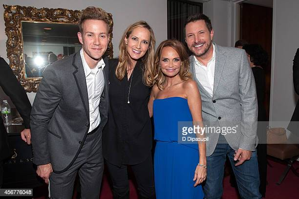 Christopher J Hanke Chely Wright Kristin Chenoweth and Ty Herndon pose backstage after the 'I Am Harvey Milk' Benefit Concert at Avery Fisher Hall...