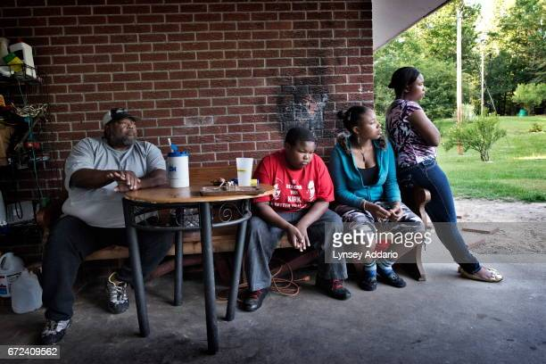 Christopher Jackson at home with his family in Holmes County at the edge of the Mississippi Delta May 31 2012 Christopher like his father has...