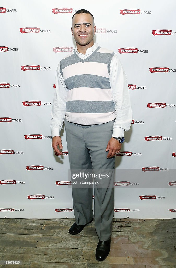 Christopher Jackson attends 'Bronx Bombers' Opening Night - After Party at West Bank Cafe on October 8, 2013 in New York City.