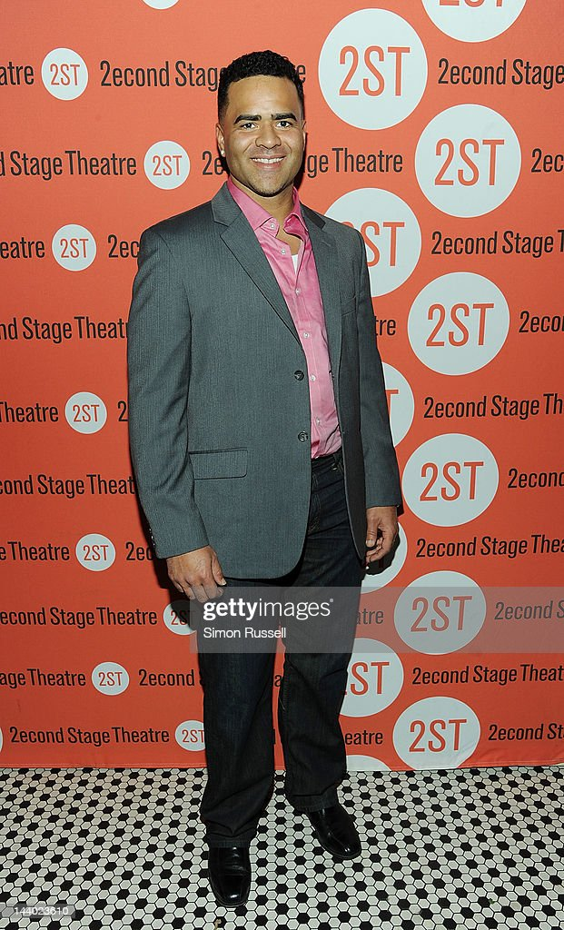 Christopher Jackson attends 'Lonely I'm Not' Off Broadway Opening Night at HB Burger on May 7, 2012 in New York City.