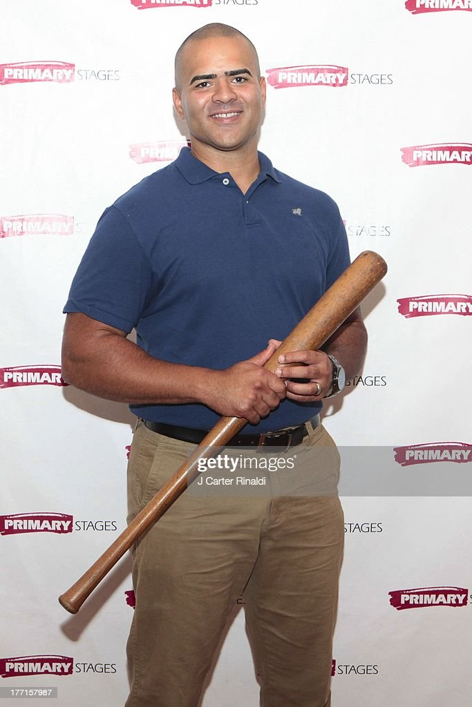 Christopher Jackson attends the cast meet and greet for the upcoming Off-Broadway production 'Bronx Bombers' at Playwrights Horizons Rehearsal Studios on August 21, 2013 in New York City.