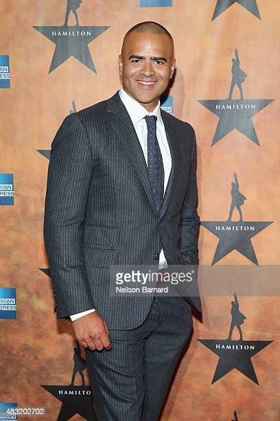 Christopher Jackson attends the 'Hamilton' Broadway Opening Night at Pier 60 on August 6 2015 in New York City