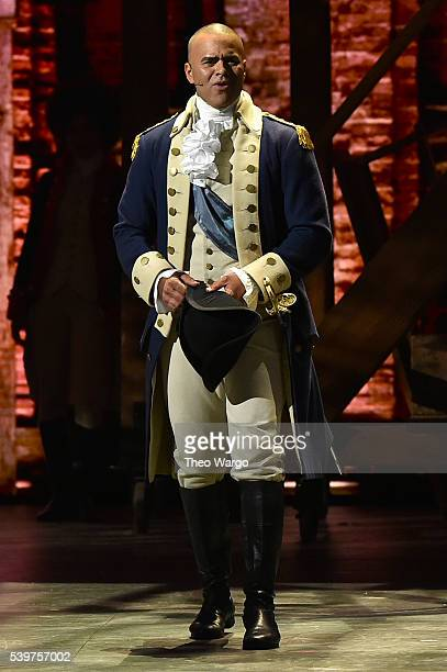 Christopher Jackson of 'Hamilton' performs onstage during the 70th Annual Tony Awards at The Beacon Theatre on June 12 2016 in New York City