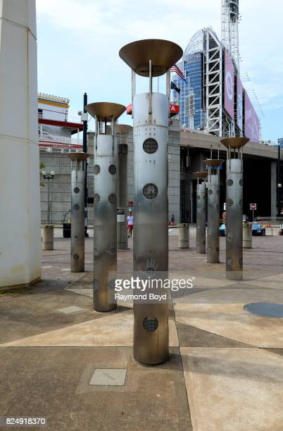 Christopher Janney's 'Whistle Grove' comprises 24 columns that surrounds the steamboat monument that will enable the electronically activated columns...