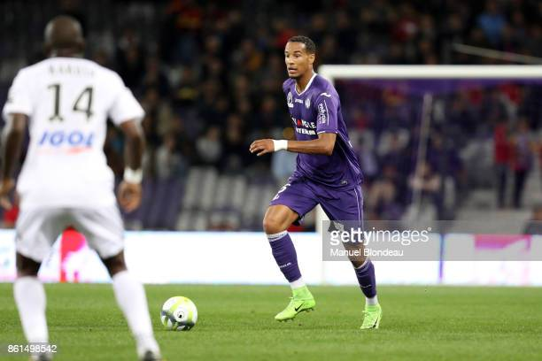 Christopher Jullien of Toulouse during the Ligue 1 match between Toulouse and Amiens SC at Stadium Municipal on October 14 2017 in Toulouse