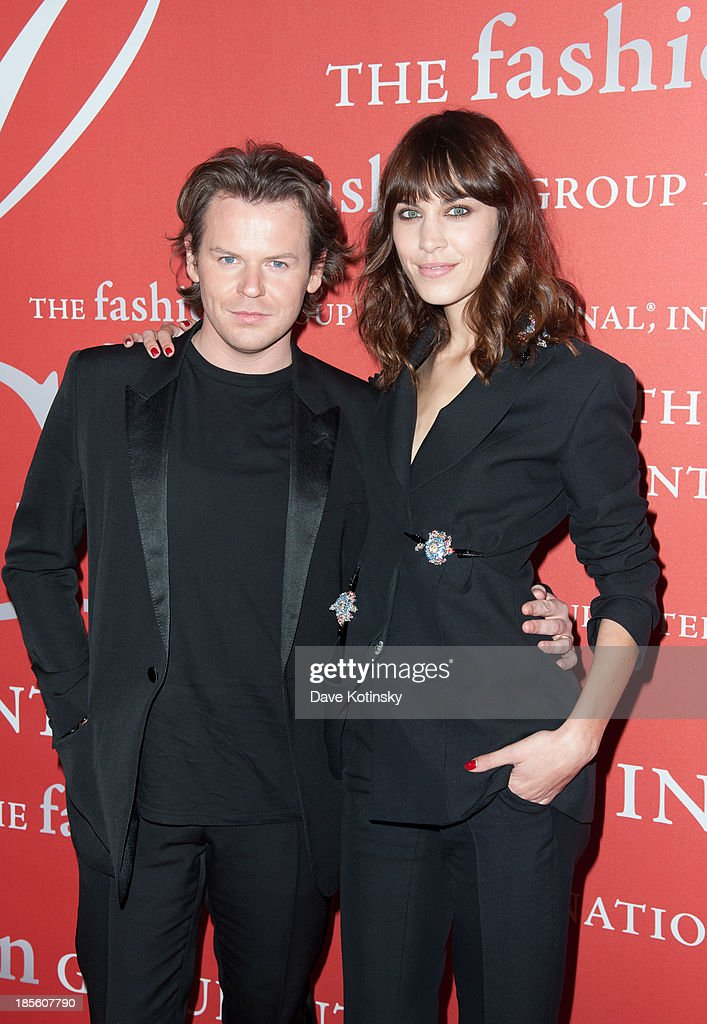 Christopher Kane and Model Alexa Chung attends the 30th Annual Night Of Stars presented by The Fashion Group International at Cipriani Wall Street on October 22, 2013 in New York City.
