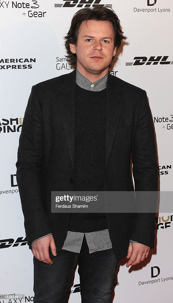 Christopher Kane attends the Fashion Fringe 10th anniversary party at the London Film Museum on December 3, 2013 in London, England.