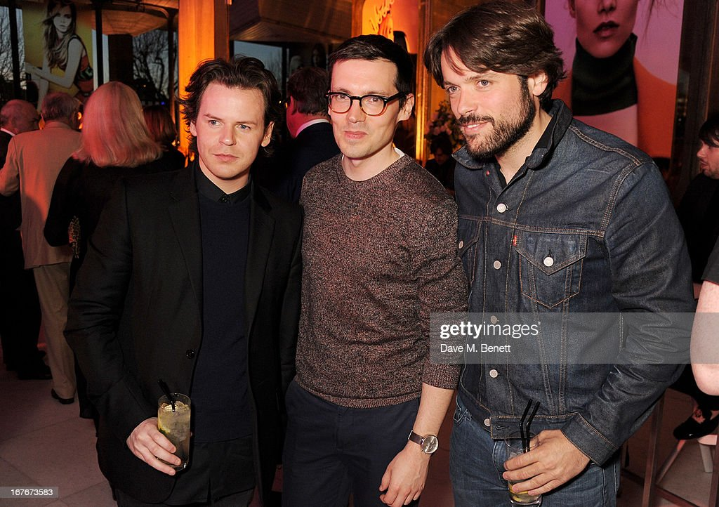 Christopher Kane, Erdem Moralioglu and Philip Joseph attend the opening party for The Vogue Festival 2013 in association with Vertu at Southbank Centre on April 27, 2013 in London, England.