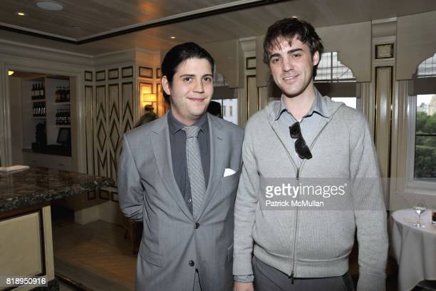 Christopher Kulu and Alexander Berardi attend American Express By Invitation OnlyÆ Experience With Jason Wu at Bergdorf Goodman on May 13 2010 in New...