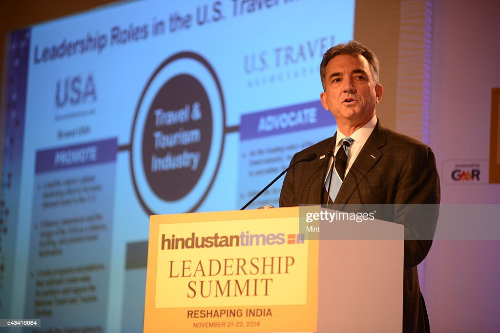 Christopher L Thompson - President and CEO of Brand USA speaking at HT leadership Summit on November 21, 2014 in New Delhi, India.