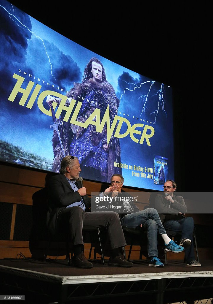 <a gi-track='captionPersonalityLinkClicked' href=/galleries/search?phrase=Christopher+Lambert&family=editorial&specificpeople=240500 ng-click='$event.stopPropagation()'>Christopher Lambert</a> (R) and Clancy Brown attend a special screening of the recently restored 'Highlander' film at Prince Charles Cinema on June 26, 2016 in London, England.