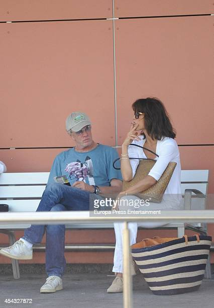 Christopher Lambert and Sophie Marceau are seen on August 29 2014 in Ibiza Spain
