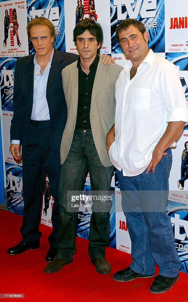 Christopher Lambert, director Samuel Benchetrit and Sergi Lopez