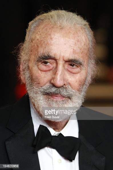 Christopher Lee attends the Royal World Premiere of 'Skyfall' at Royal Albert Hall on October 23 2012 in London England