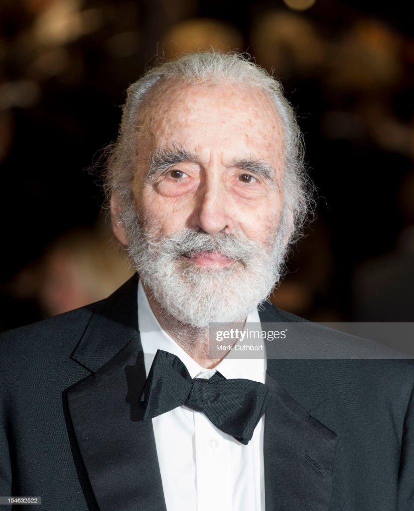 <a gi-track='captionPersonalityLinkClicked' href=/galleries/search?phrase=Christopher+Lee+-+Actor&family=editorial&specificpeople=213479 ng-click='$event.stopPropagation()'>Christopher Lee</a> attends the Royal World Premiere of 'Skyfall' at Royal Albert Hall on October 23, 2012 in London, England.