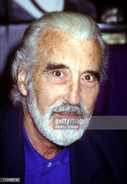 Christopher Lee during Christopher Lee Signing In Support of his new CD 'Devils Rogues Other Villians' at Creature Feature in Burbank CA United States
