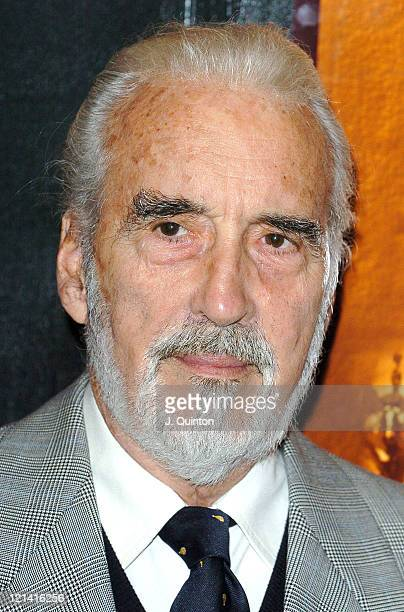 Christopher Lee during 'Jinnah' DVD Press Launch at Sony Pictures Golden Square in London Great Britain