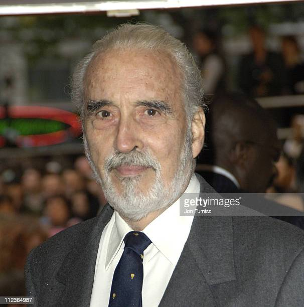 Christopher Lee during 'Star Wars Episode III Revenge Of The Sith' London Film Premiere Inside Arrivals at Odeon Leicester Square in London Great...