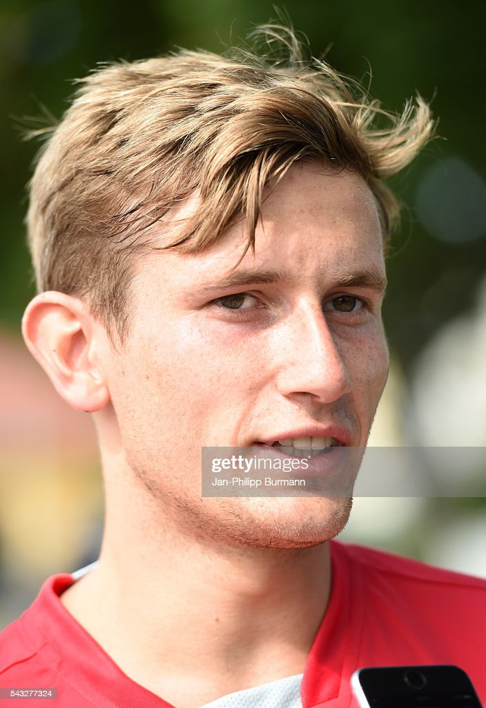 Christopher Lenz of 1 FC Union Berlin during the lactate tests on June 27, 2016 in Berlin, Germany.