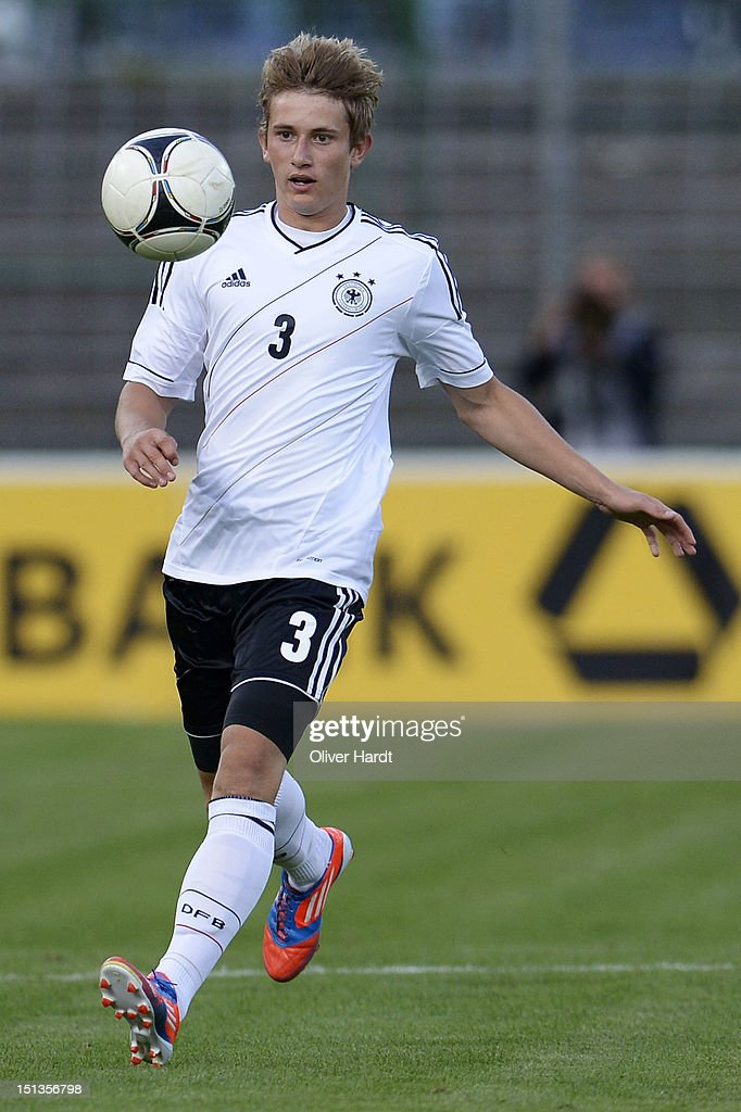 Christopher Lenz of Germany during the Under 19 international friendly match between Germany and England at Stadion an der Lohmuehle on September 6, 2012 in Luebeck, Germany.