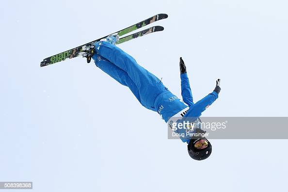 Christopher Lillis of the United States jumps to ninth place in the the FIS Freestyle Skiing Aerials World Cup at the Visa Freestyle International at...