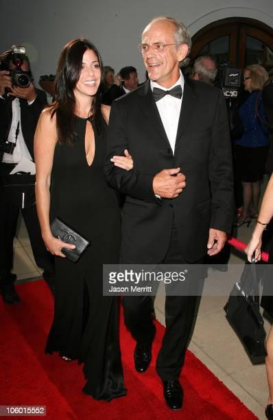 Christopher Lloyd and guest during The 2006 Santa Barbara International Film Festival Honors Kirk Douglas at Bacara Resort Spa in Santa Barbara...
