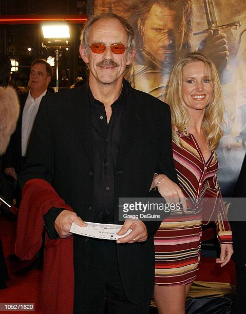 Christopher Lloyd and guest during 'The Lord Of The RingsThe Return Of The King' Los Angeles Premiere at Mann Village Theatre in Westwood California...