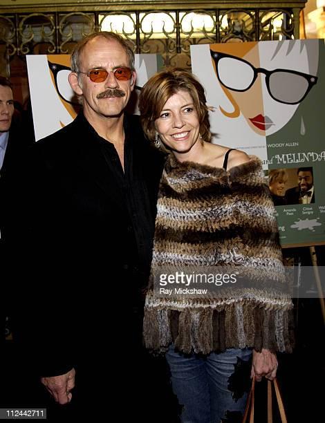 Christopher Lloyd and wfie Jane Walker Wood during 20th Annual Santa Barbara International Film Festival Opening Night Gala at Arlington Theatre in...